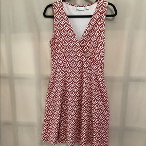 New York & Co cross front fit and flare dress